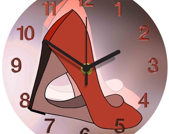 Red Shoes Clock
