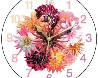 Feast of Dahlias Clock