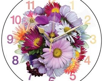 Spray of Flowers Clock