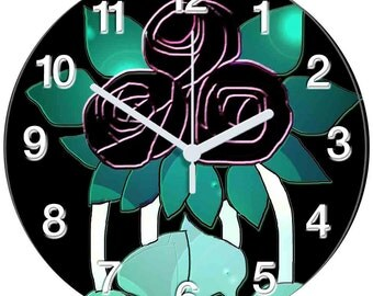 Leaves and Flowers Clock
