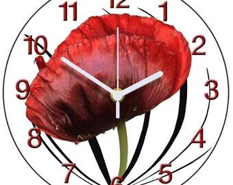 Scarlet Poppy Clock