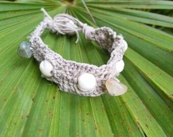 Macrame Hand-Woven Hemp Bracelet