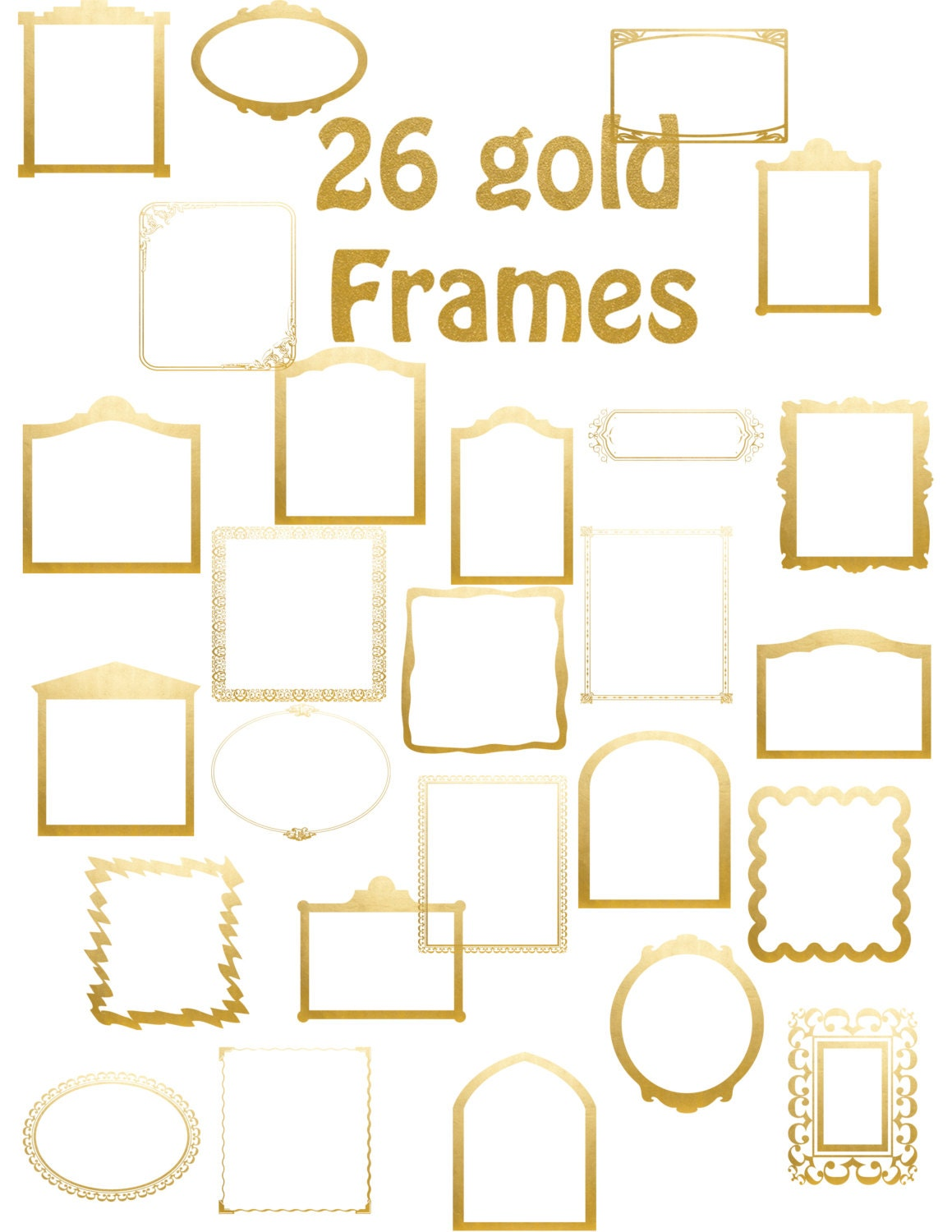 Frames Gold Glitter 26 Gold glitter Frames Collage by ...