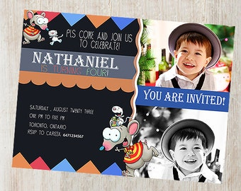 Toopy Binoo Invitation Card Birthday card