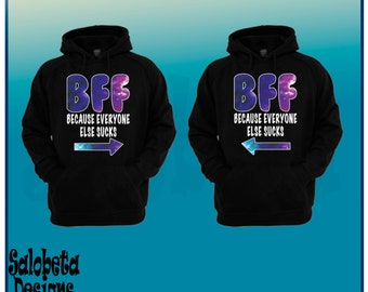 BFF Best Friends matching galaxy sweaters - best friends Sweaters-BFF sweaters-BFF pullover