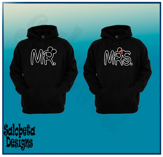 mr and mrs sweaters mr and mrs pullover mickey and door. Black Bedroom Furniture Sets. Home Design Ideas