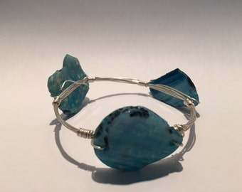 WIRED Handmade Turquise Trio Stone Bangle