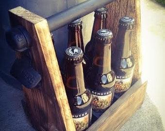 Beer Bottle Holder, Beer Bottle Carrier, Groomsmen Gifts, Man Gifts, Men Gifts, Wedding Gifts, Wedding Party Gifts, Beer Carrier, Beer Bottl