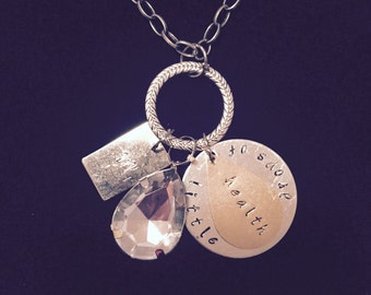 Personalized Necklace With Hand Stamped Business Name