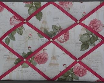 """Memo board """"Paris in Roses"""""""