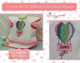 Cross stitch Love balloon pattern