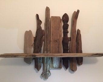 40 inch driftwood shelf