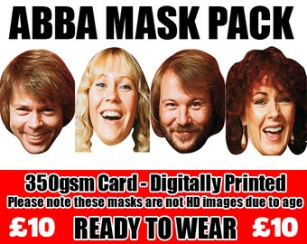 ABBA Celebrity Face Mask Pack