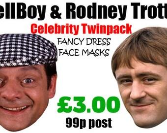 Del Boy and Rodders / Rodney Celebrity Face Mask Pack