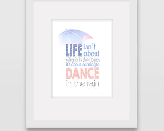 Dance in the Rain -  Wall Art Print