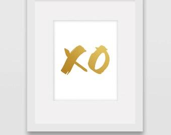 XO Kiss Hug - Wall Art Print
