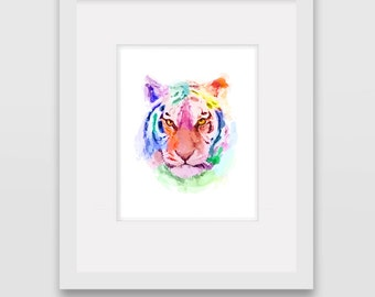 Watercolour Tiger - Wall Art Print