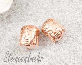 2 x Buddha Pearl ROSE GOLD plated art. 2093