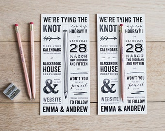 Pencil Us In Save the Date - Sample