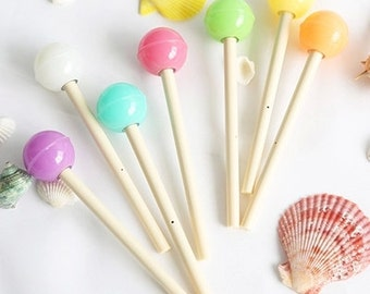 Sweet lollipop pen ( Each order come with Two )
