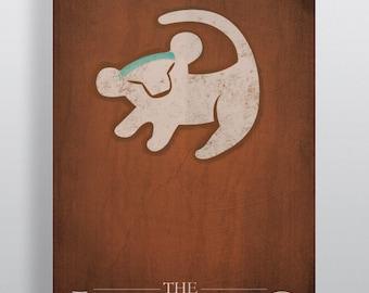 Minimalism The Lion King Movie Poster