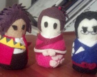 Character Felties: Mugen, Fuu, Jin (Samurai Champloo)