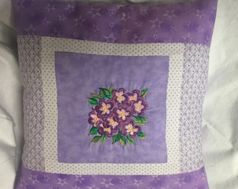 Embroidered Decorative Flower Pillow Throw Pillow Bedroom pillow Cotton Flower Pillow Embroidered Cushion Machine Embroidered Colorful