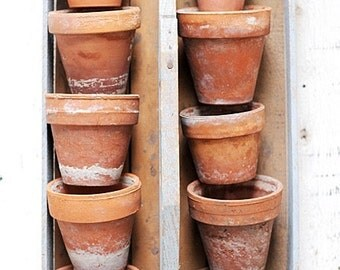 4 Rustic Potager Pots