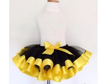 Yellow and Black Tutu ONLY
