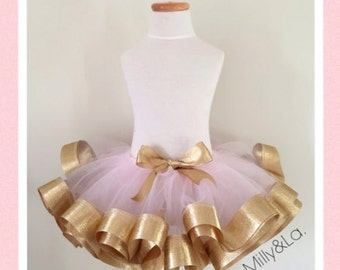 Pink & Gold Tutu Only