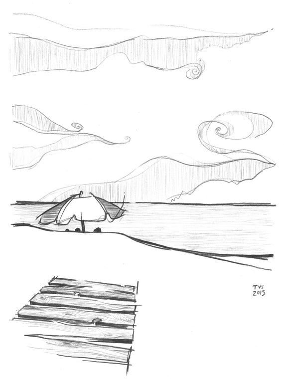 Day 12 Print: Up the coast