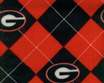 Georgia Bulldogs Hand Tied Fleece Blanket