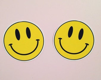 90s Acid Smiley Faces Iron on Transfers