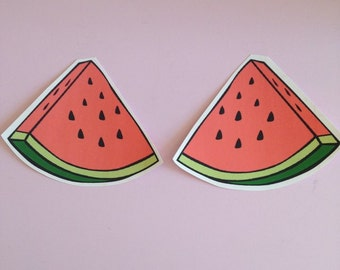 Set of 2 Watermelon Slices Iron on Transfers