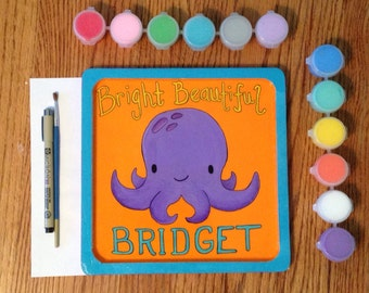 Baby Octopus Plaque-hand painted