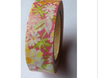 Washi tape pink floral