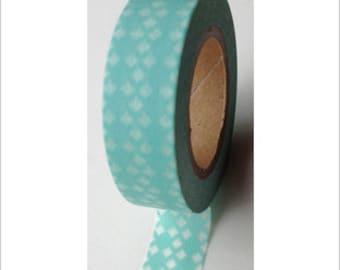 Washi tape blue diamonds