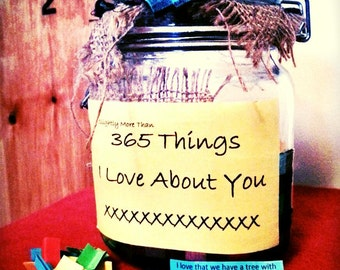 365 Things I Love About You Personalised Jar