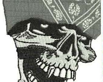 Gangsta Skull Embroidery Design