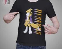 Renamon Digimon Tamers Vector Character AllukaArtTees Unisex Adult Tees