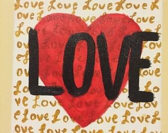 6X6 Love Canvas