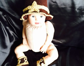 Cowboy hat and boots baby photo prop