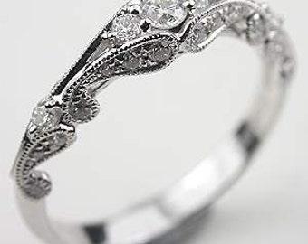 Vintage Style Wedding Ring / Band