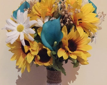 Sunflower and Daisy Bouquet