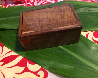 Hawaiian Curly  Koa Box