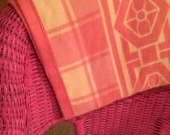 Vintage pink camp blanket