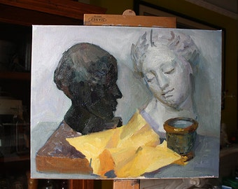 Busts Still life, oil painting