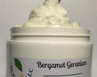 Whipped Bergamot and Geranium Body Butter - 4 oz