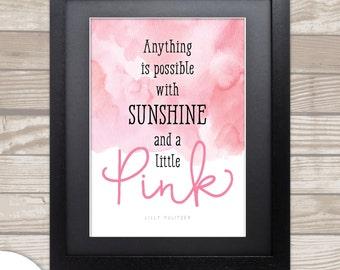 SUNSHINE & PINK . Pulitzer