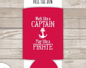 CAPTAIN - PIRATE . drink holder